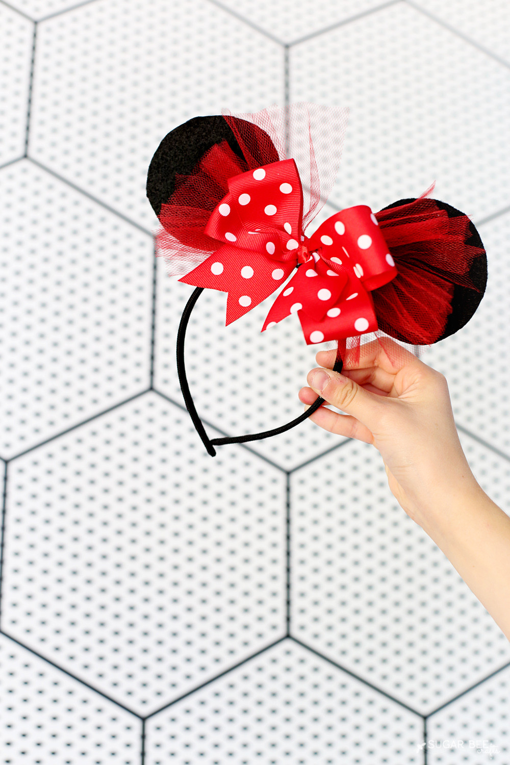 Best ideas about DIY Minnie Mouse Ears . Save or Pin DIY Minnie Mouse Bow Costume Sugar Bee Crafts Now.