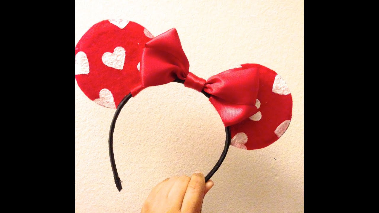 Best ideas about DIY Minnie Mouse Ears . Save or Pin DIY Valentine s Day Minnie Mouse Ears ♥ Now.
