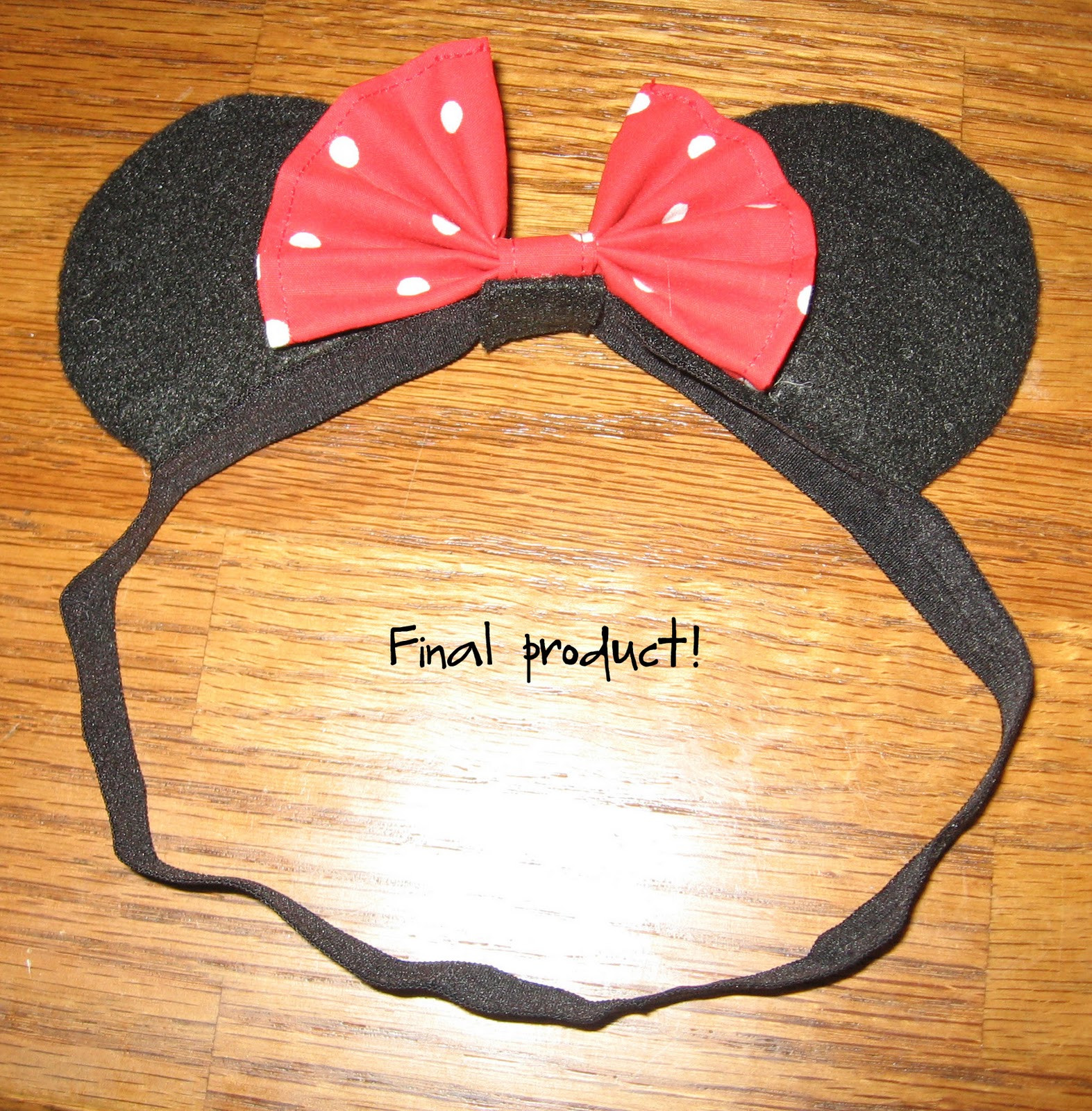 Best ideas about DIY Minnie Mouse Ears . Save or Pin DIY kinda girl Minnie Mouse ears for baby tutorial Now.