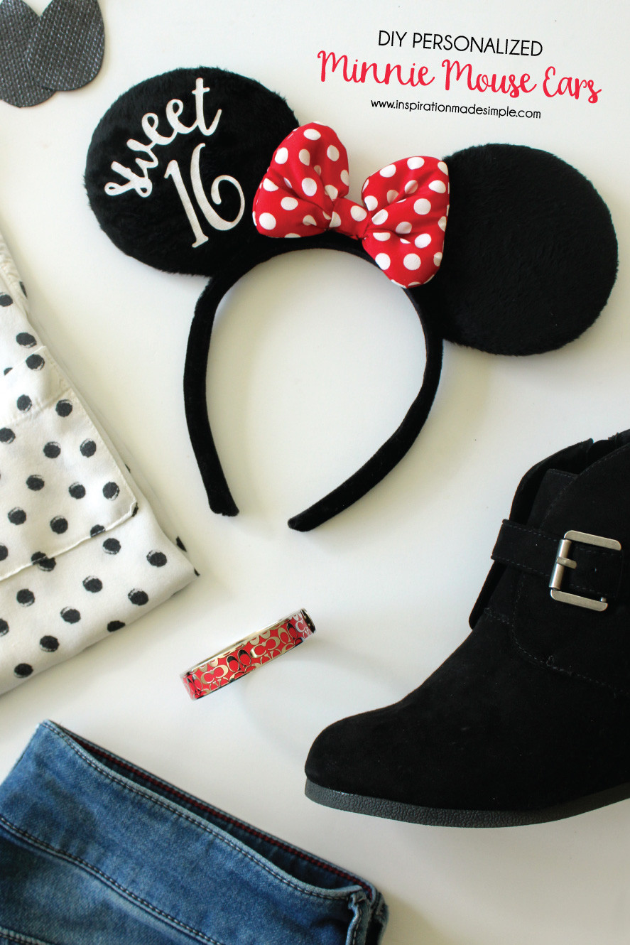 Best ideas about DIY Minnie Mouse Ears . Save or Pin Personalized Minnie Mouse Ears Inspiration Made Simple Now.