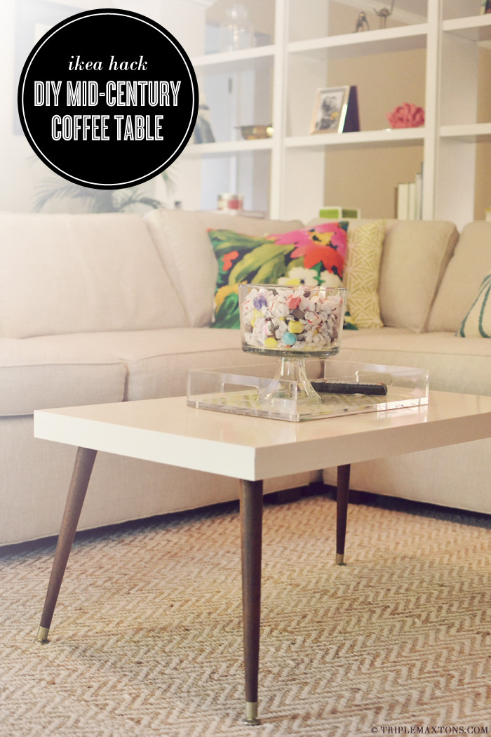 Best ideas about DIY Modern Coffee Table . Save or Pin Ikea Hack DIY Mid Century Modern Coffee Table Triple Now.