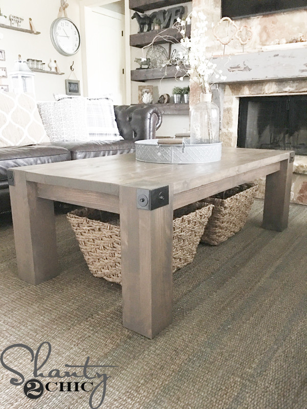 Best ideas about DIY Modern Coffee Table . Save or Pin Modern Farmhouse Coffee Table and How To Video Shanty 2 Chic Now.