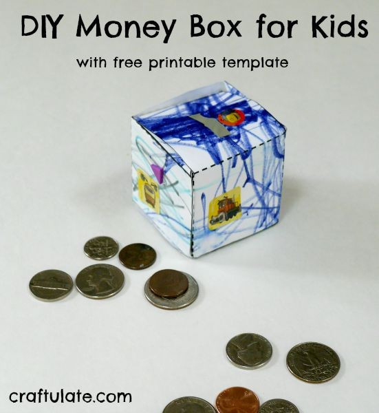 Best ideas about DIY Money Boxes . Save or Pin DIY Money Box for Kids Craftulate Now.