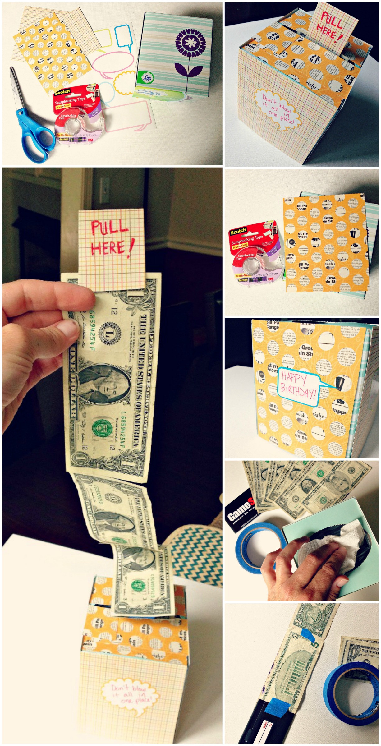 Best ideas about DIY Money Boxes . Save or Pin DIY Creative Way To Give A Cash Gift Using A Kleenex Box Now.