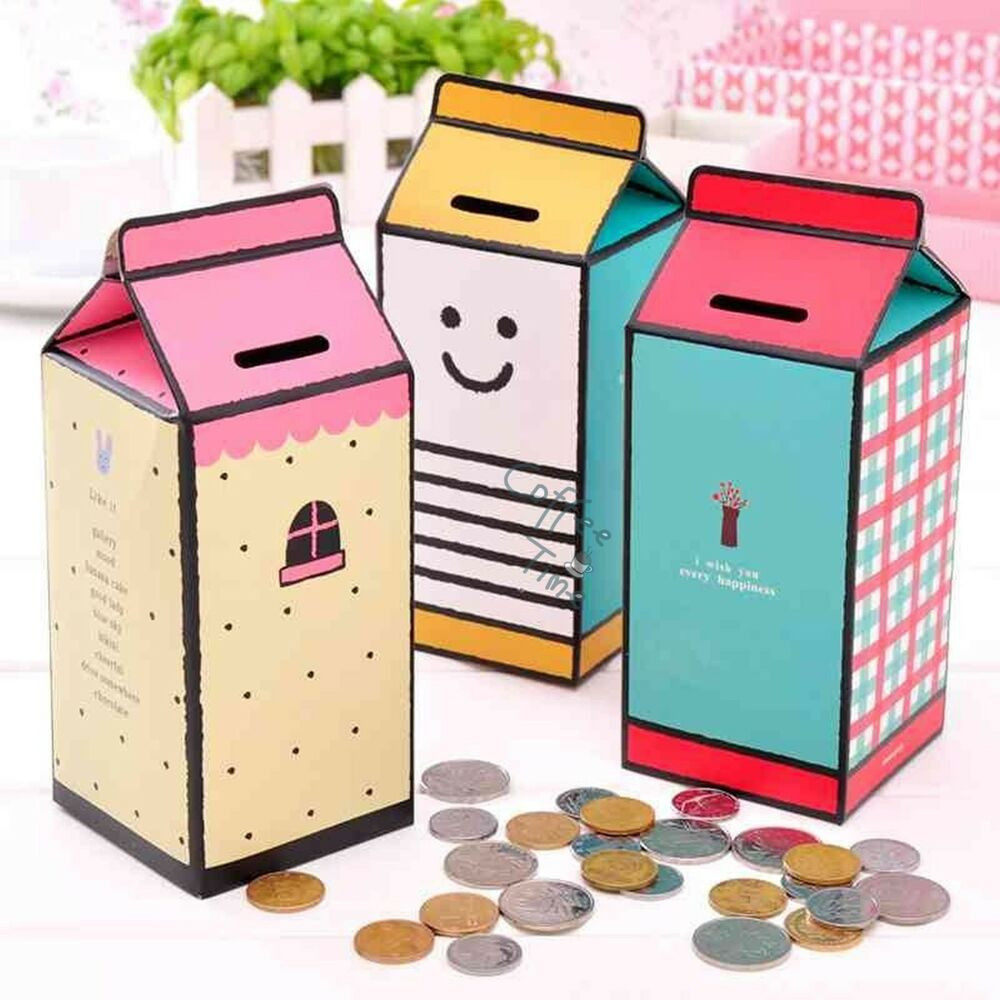 Best ideas about DIY Money Boxes . Save or Pin 1 x Cute Diy Paper Piggy Bank Money Box Coin Storage Box Now.