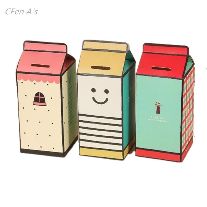 Best ideas about DIY Money Boxes . Save or Pin CFen A s DIY piggy bank money box milk box shape paper Now.