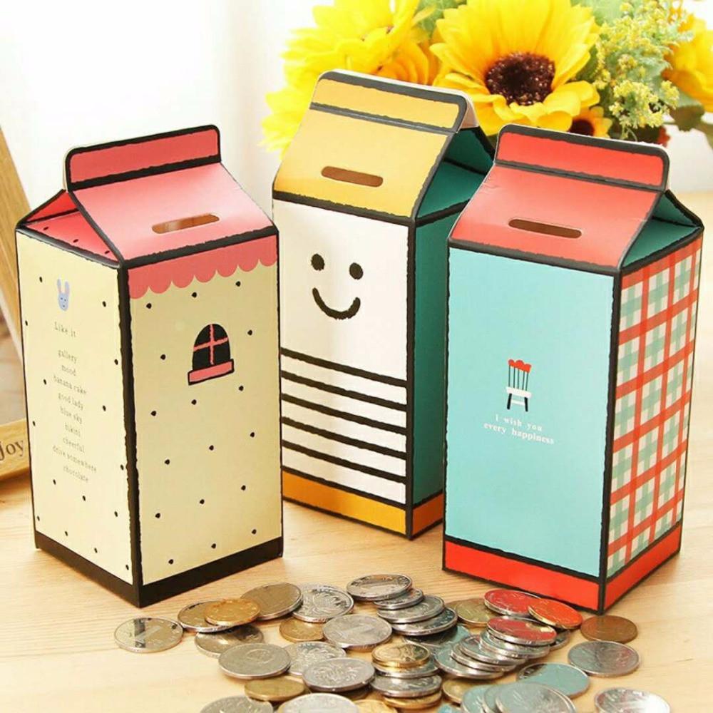 Best ideas about DIY Money Boxes . Save or Pin DIY Milk Box Shape Storage Paper Money Boxes Coins Now.