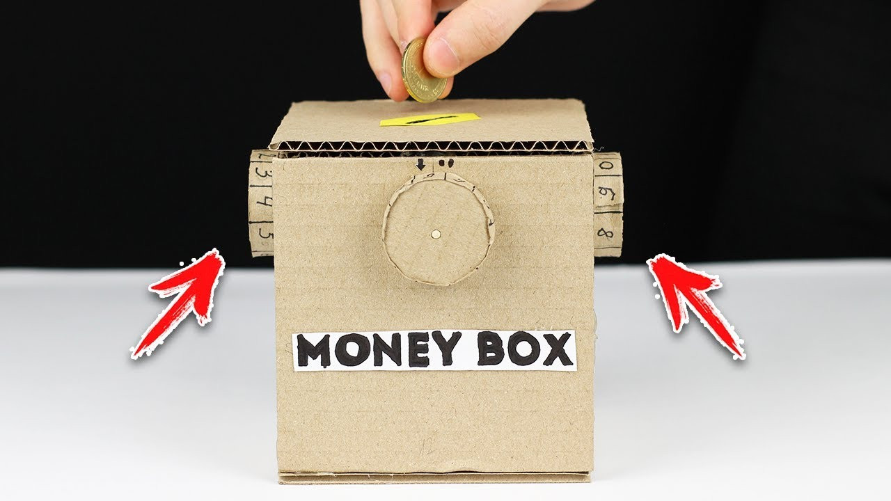 Best ideas about DIY Money Boxes . Save or Pin How to Make Safe Coin Box with Password from Cardboard Now.