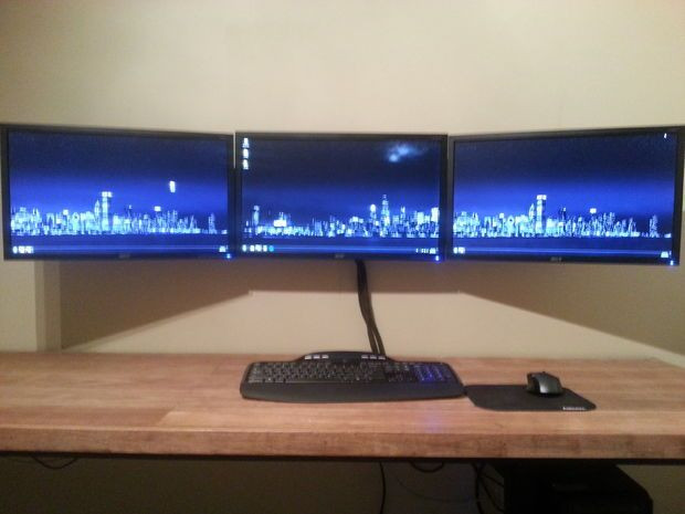 Best ideas about DIY Monitor Wall Mount . Save or Pin Triple Monitor Wall Mount puter fice Area Now.