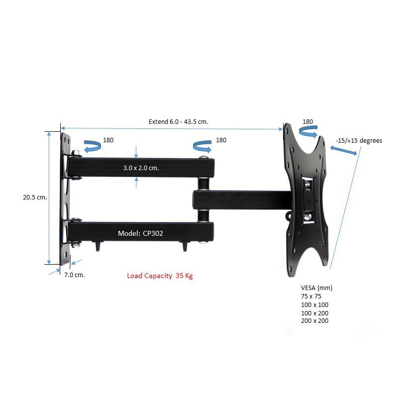 Best ideas about DIY Monitor Wall Mount . Save or Pin DIY Tilt Swivel LCD LED Plasma Moni end 4 12 2019 12 15 AM Now.