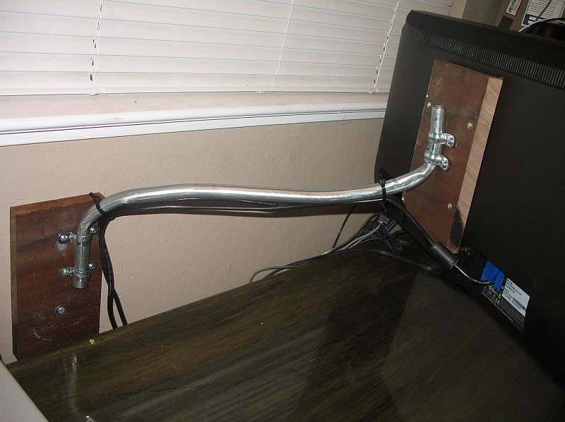 Best ideas about DIY Monitor Wall Mount . Save or Pin HomeMade Monitor Wall Mount Arm – Nifty Stuff Now.