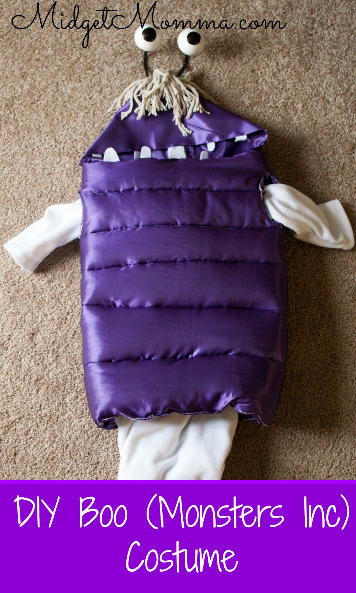 Best ideas about DIY Monsters Inc Costume . Save or Pin DIY Boo From Monster Inc Costume Now.