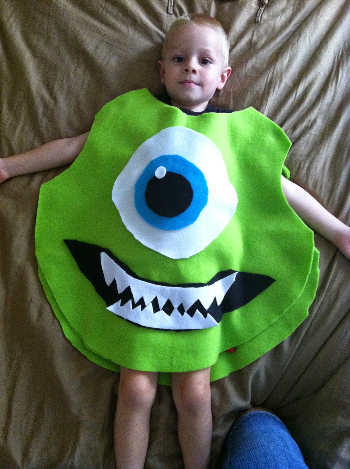 Best ideas about DIY Monsters Inc Costume . Save or Pin Chadwicks Picture Place Homemade Mike Wazowski Halloween Now.