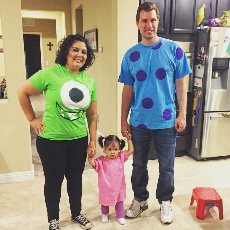 Best ideas about DIY Monsters Inc Costume . Save or Pin DIY Monster s Inc family costume Now.