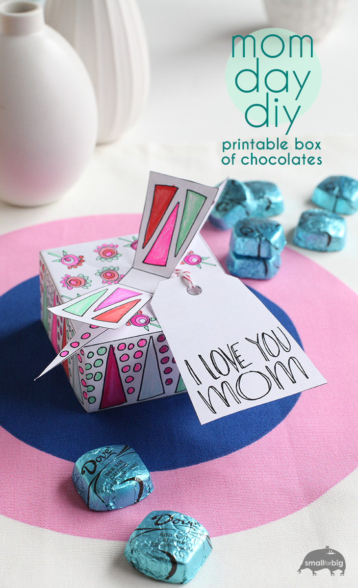 Best ideas about DIY Mother'S Day Gifts . Save or Pin Mother's Day Free Printable Chocolate Box – Gift Box DIY Now.