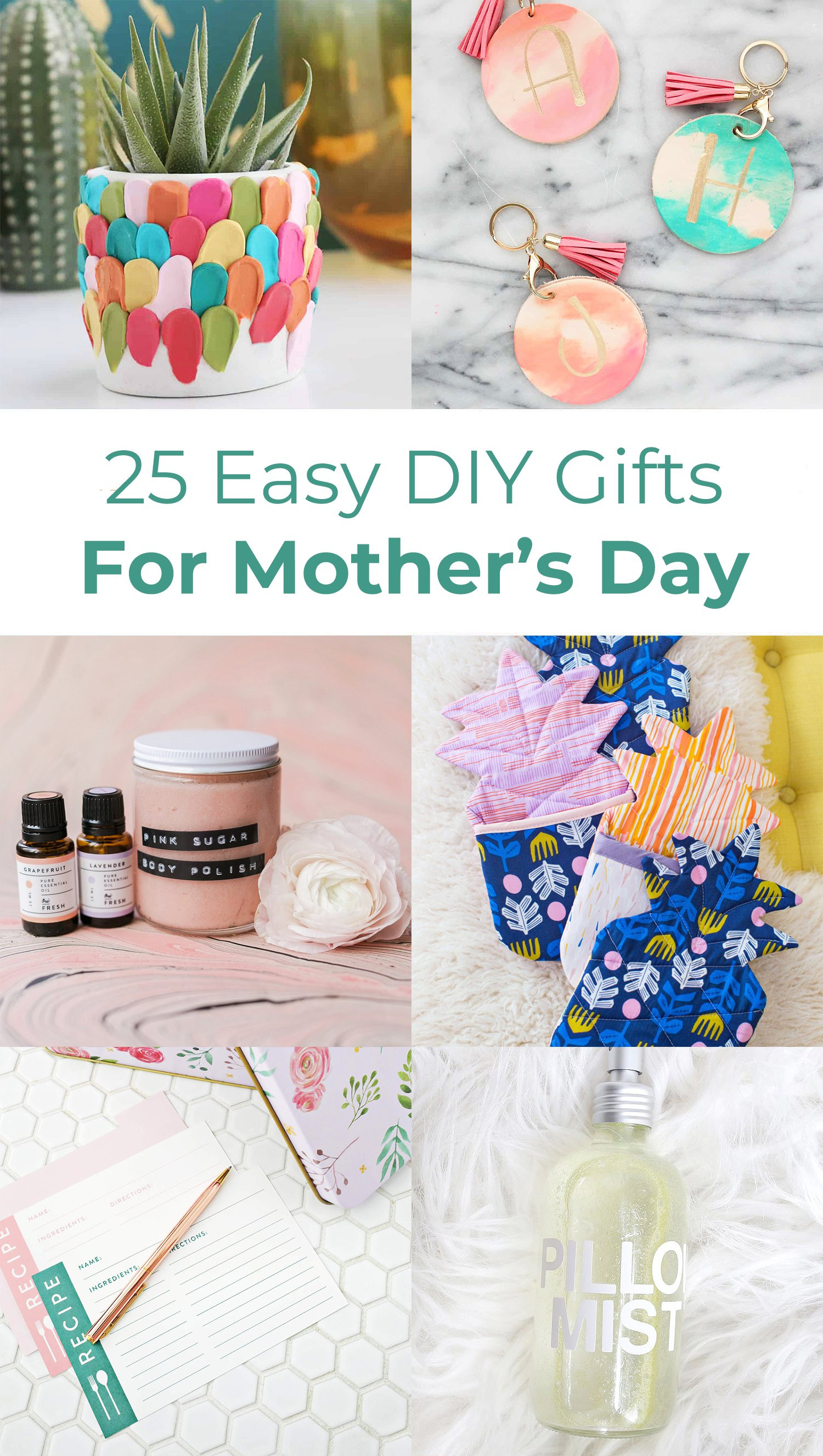 Best ideas about DIY Mothers Day . Save or Pin 25 Easy DIY Gift Ideas For Mother s Day A Beautiful Mess Now.
