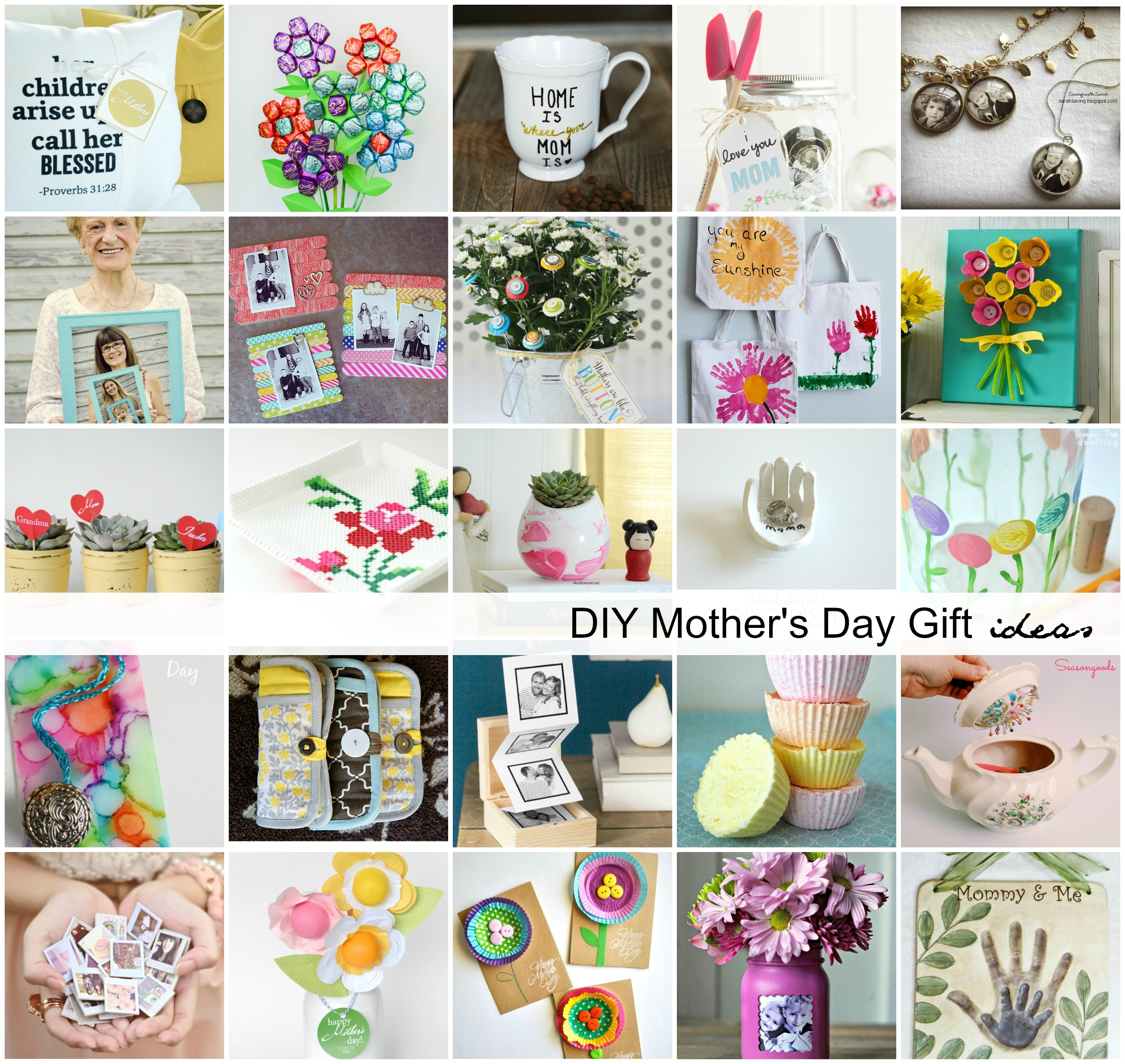 Best ideas about DIY Mothers Day . Save or Pin 43 DIY Mothers Day Gifts Handmade Gift Ideas For Mom Now.