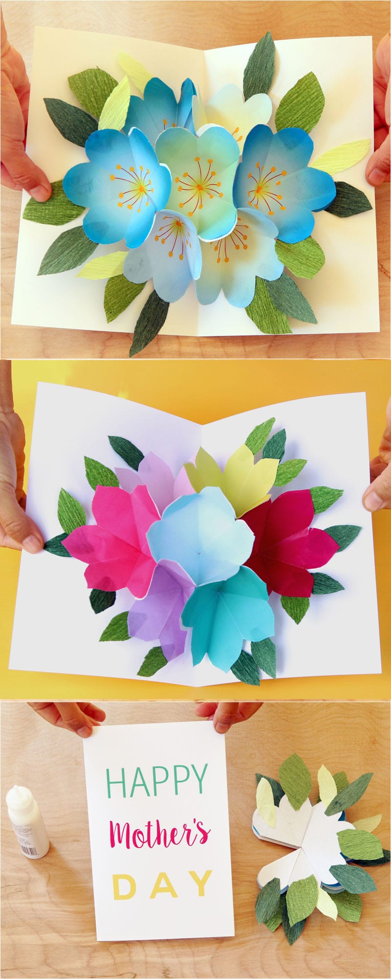 Best ideas about DIY Mothers Day . Save or Pin Pop Up Flowers DIY Printable Mother s Day Card A Piece Now.