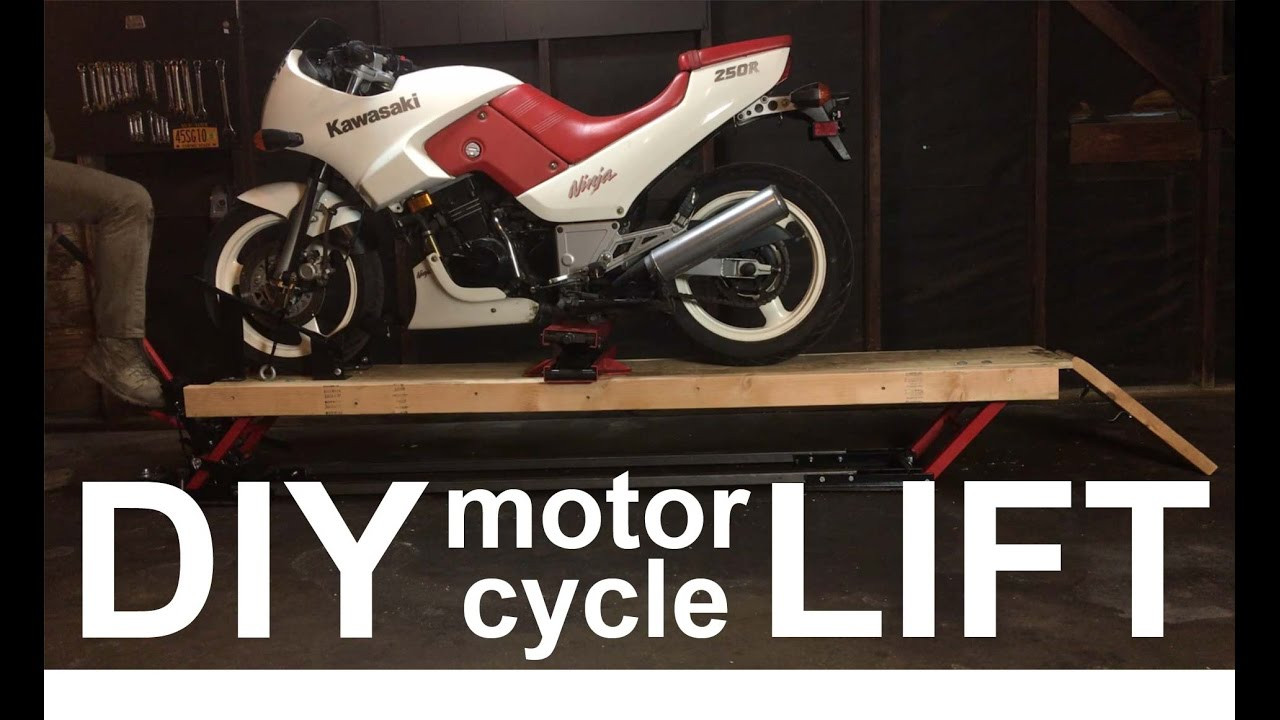 Best ideas about DIY Motorbike Lift . Save or Pin DIY MOTORCYCLE LIFT for $200 in 2 Minutes Now.
