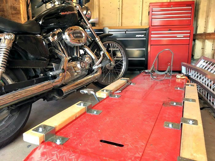 Best ideas about DIY Motorbike Lift . Save or Pin How To DIY Motorcycle Table Lift Side Extensions Now.