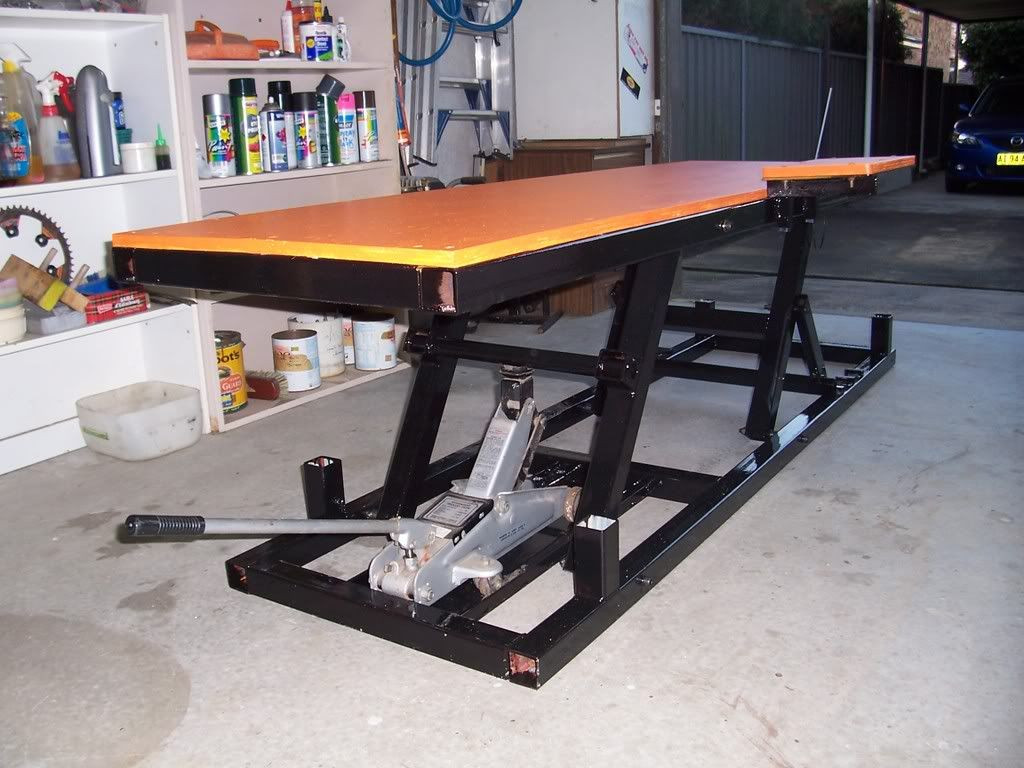 Best ideas about DIY Motorbike Lift . Save or Pin Motorcycle Lift bench table Adventure Rider Now.
