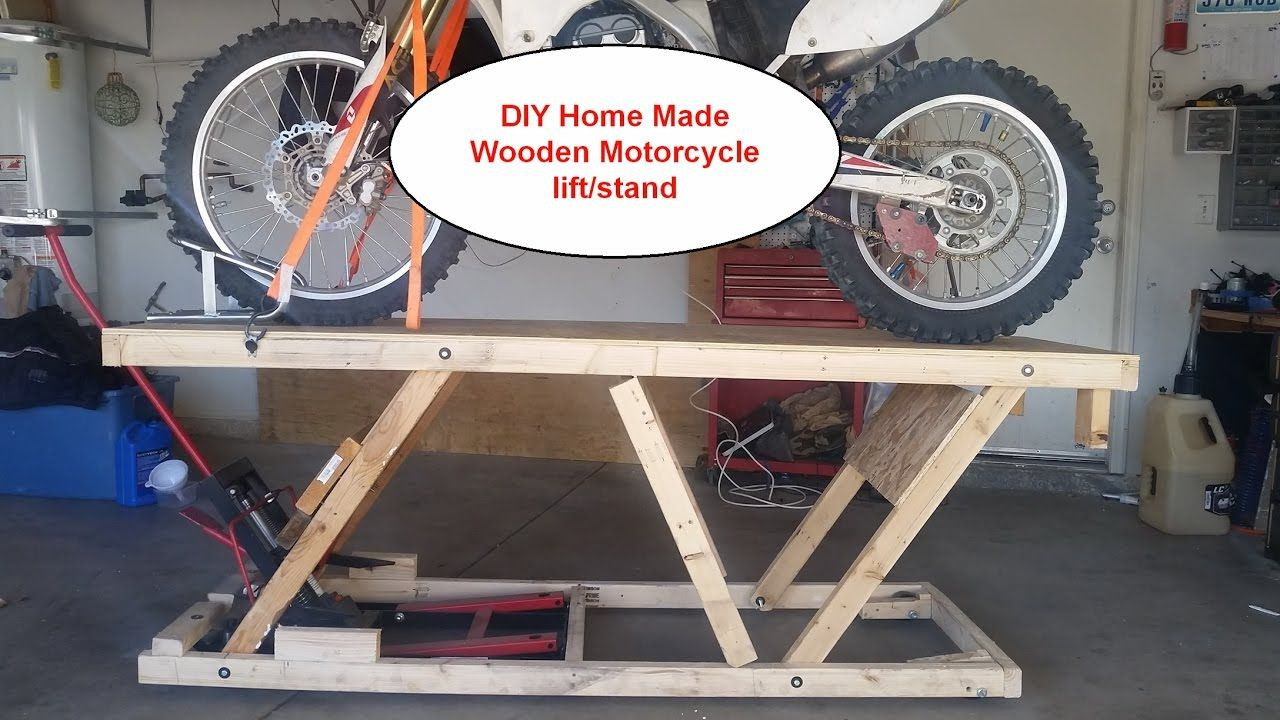 Best ideas about DIY Motorcycle Lift Table . Save or Pin DIY Home made Wooden Motorcycle lift stand Table under $20 Now.