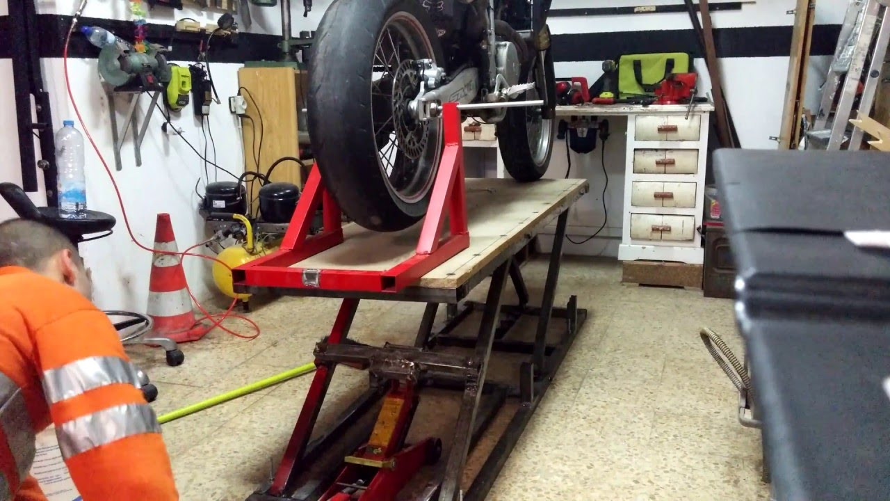 Best ideas about DIY Motorcycle Lift Table . Save or Pin Homemade bike lift table lift Now.