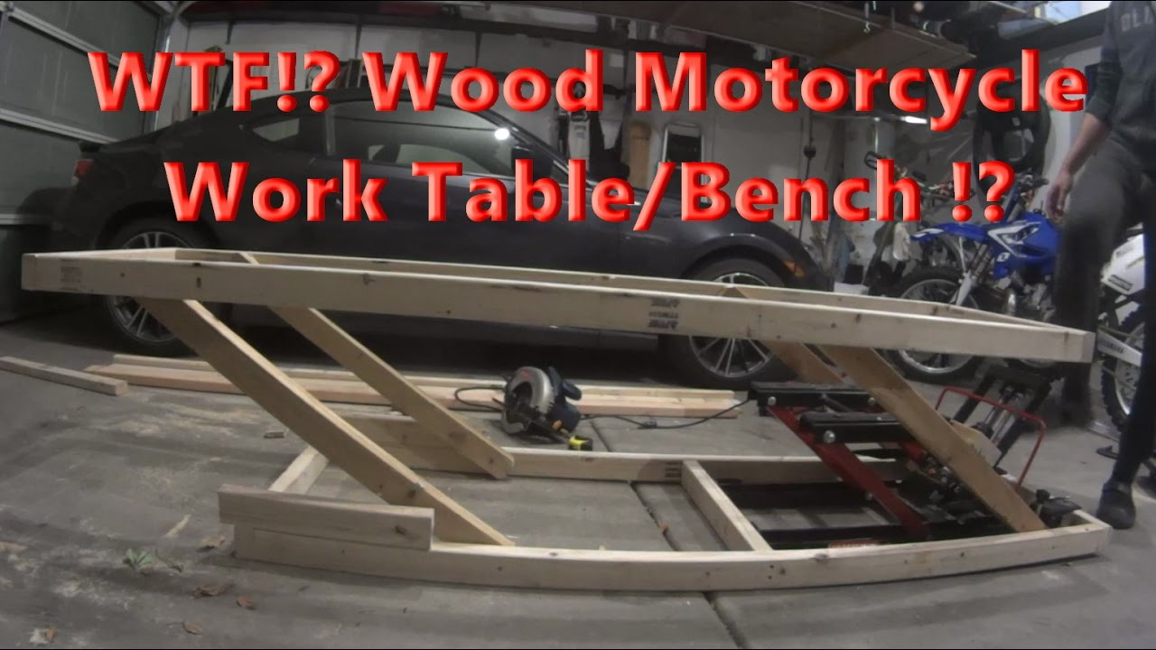Best ideas about DIY Motorcycle Lift Table . Save or Pin DIY Home made Adjustable Wood Motorcycle Work Table for 20 Now.
