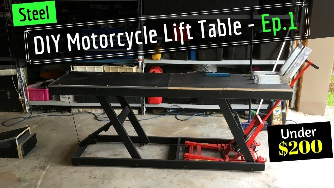 Best ideas about DIY Motorcycle Lift Table . Save or Pin DIY Motorcycle Hydraulic Lift Table From Old Shelving Now.