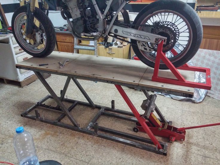 Best ideas about DIY Motorcycle Lift Table . Save or Pin ma omestuff Homemade bike lift Metalwork Now.