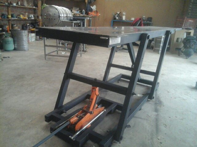 Best ideas about DIY Motorcycle Lift Table . Save or Pin Lift table already finish Now.