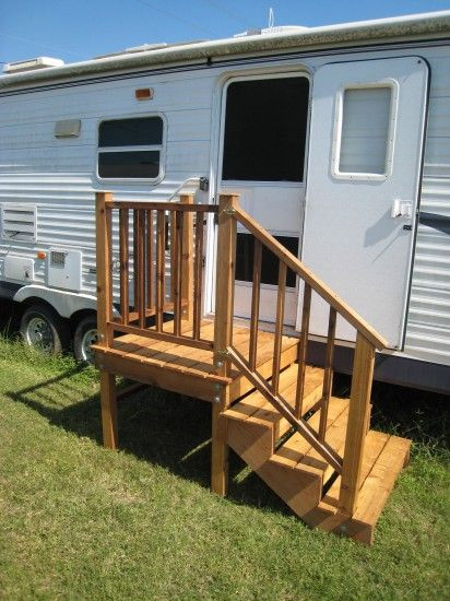 Best ideas about DIY Movable Stairs And Landing Small . Save or Pin Gallery RV Wooden Staircase Inc Now.