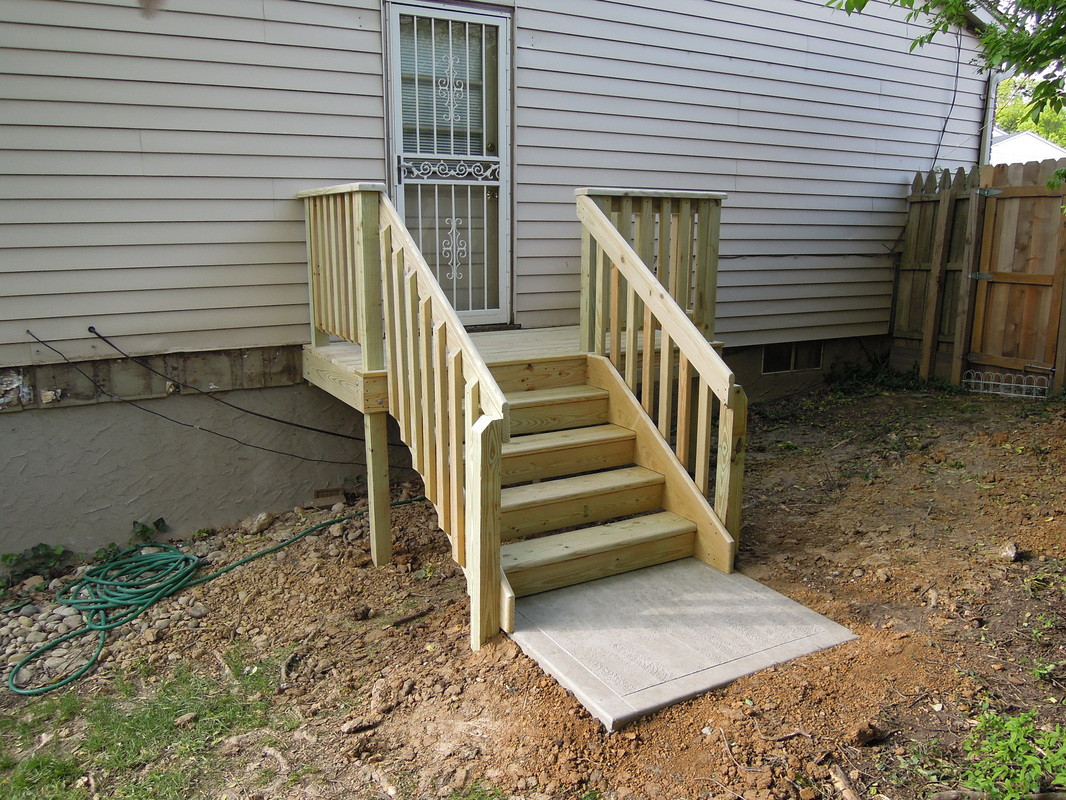 Best ideas about DIY Movable Stairs And Landing Small . Save or Pin Simple Deck Stairs With Landing — Design & Ideas How to Now.