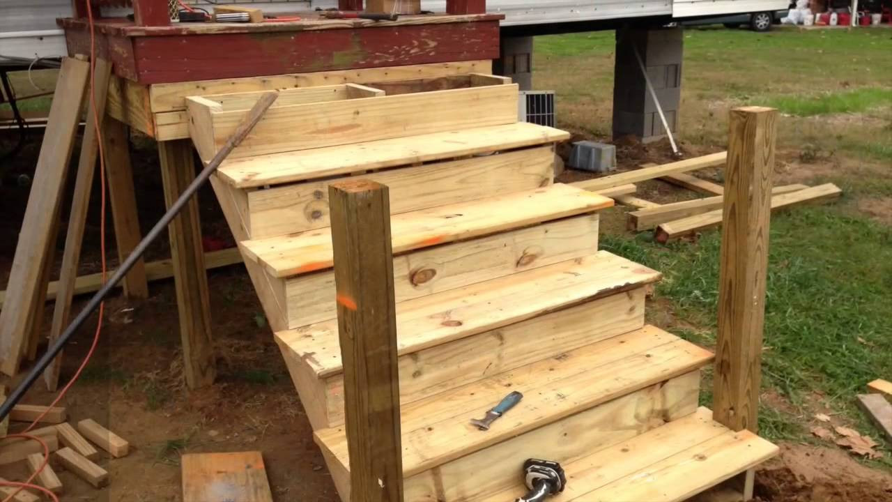Best ideas about DIY Movable Stairs And Landing Small . Save or Pin How to build a deck onto a used mobile home Now.