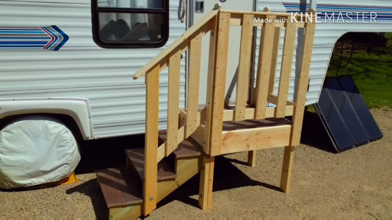 Best ideas about DIY Movable Stairs And Landing Small . Save or Pin Portable RV Steps Now.
