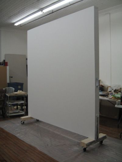 Best ideas about DIY Movable Wall . Save or Pin Rolling wall created for a painter in SoHo NY as a studio Now.