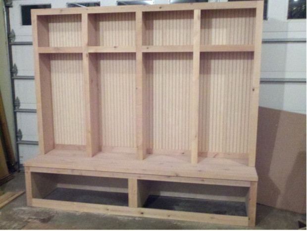 Best ideas about DIY Mudroom Lockers Plans . Save or Pin Mudroom locker Boot bench Woodworking Talk Woodworkers Now.