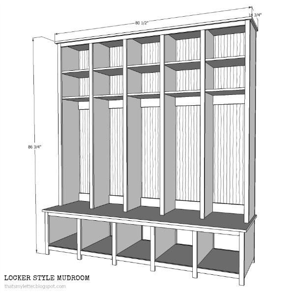 Best ideas about DIY Mudroom Lockers Plans . Save or Pin DIY Locker & Bench Units Jaime Costiglio Now.