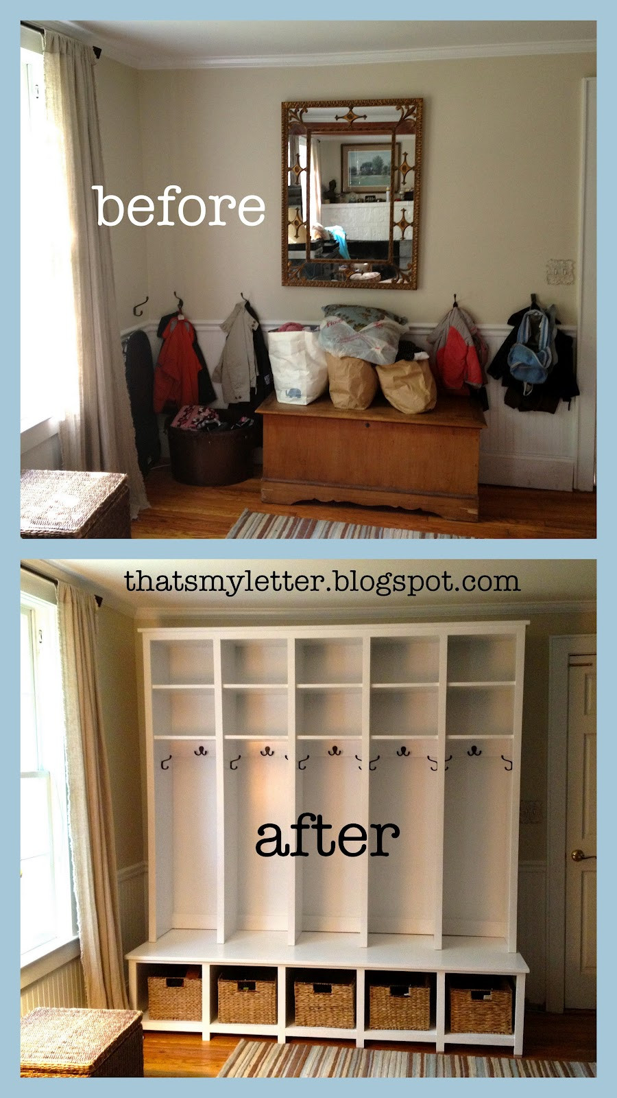 Best ideas about DIY Mudroom Lockers Plans . Save or Pin That s My Letter DIY Locker & Bench Units Now.