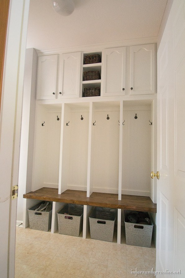 Best ideas about DIY Mudroom Lockers Plans . Save or Pin Mudroom Locker Final Reveal Infarrantly Creative Now.