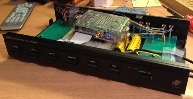 Best ideas about DIY Multi Room Audio . Save or Pin Raspberry Pi and relay board installed in the speaker Now.