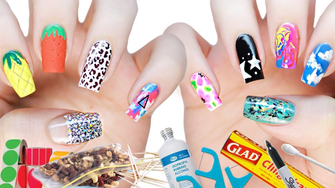 Best ideas about DIY Nail Art . Save or Pin 10 DIY Nail Art Designs Using HOUSEHOLD ITEMS Now.