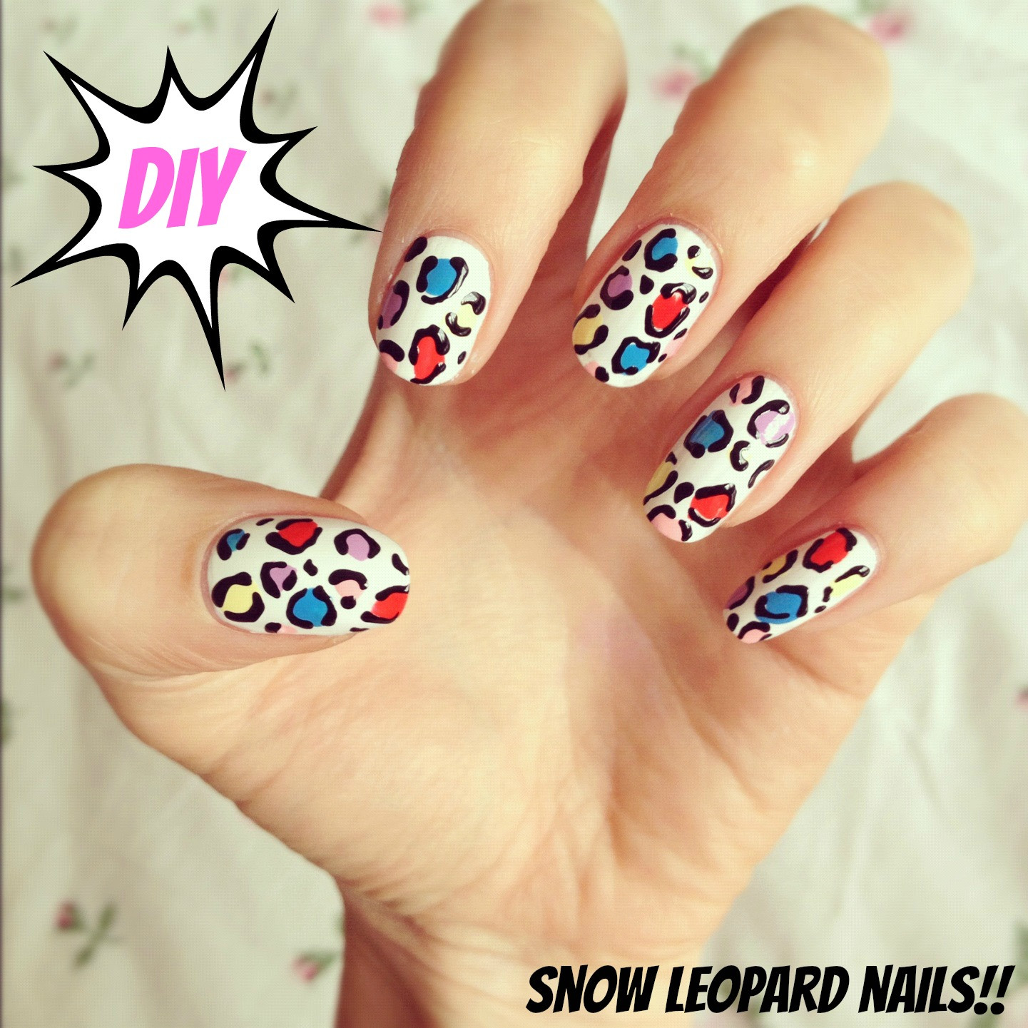 Best ideas about DIY Nail Art . Save or Pin DIY snow leopard nail art Now.