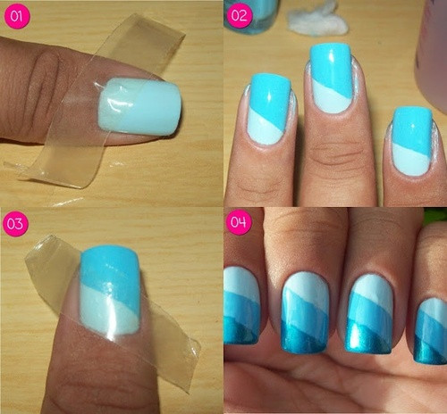 Best ideas about DIY Nail Art . Save or Pin 32 Amazing DIY Nail Art Ideas Using Scotch Tape Style Now.