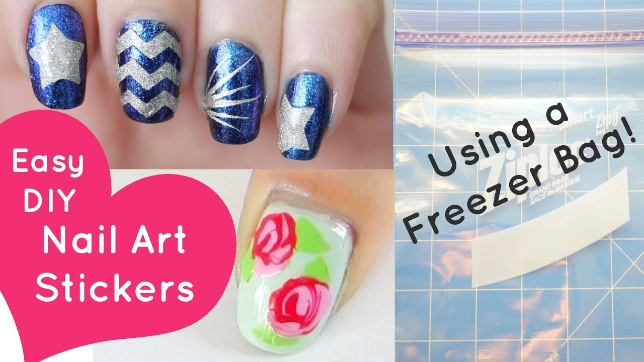Best ideas about DIY Nail Art . Save or Pin Easy DIY Nail Art Stickers Using a Freezer Bag Now.