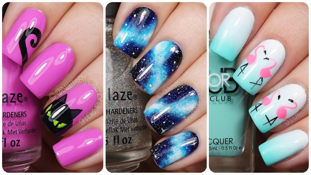 Best ideas about DIY Nail Art . Save or Pin Top 20 Easy Nail Art Designs Diy Nail Art💅How to Paint Now.