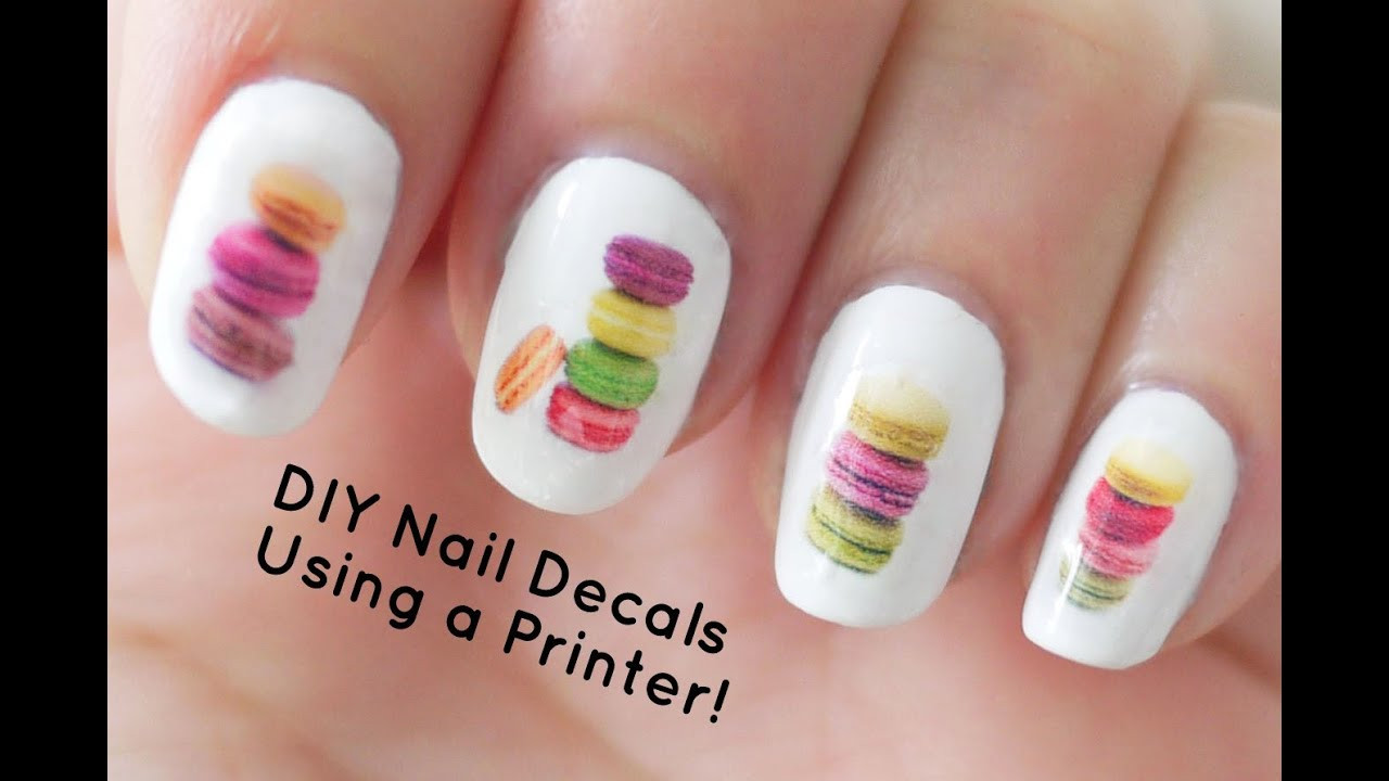 Best ideas about DIY Nail Art . Save or Pin DIY Nail Art Decals Using a Printer Now.