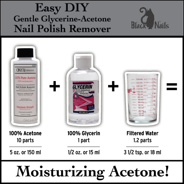 Best ideas about DIY Nail Polish Remover . Save or Pin Easy DIY Gentle Glycerin Acetone Nail Polish Remover Now.