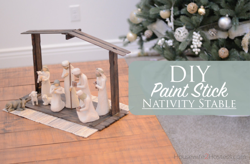 Best ideas about DIY Nativity Stable . Save or Pin DIY Paint Stick Nativity Stable Now.