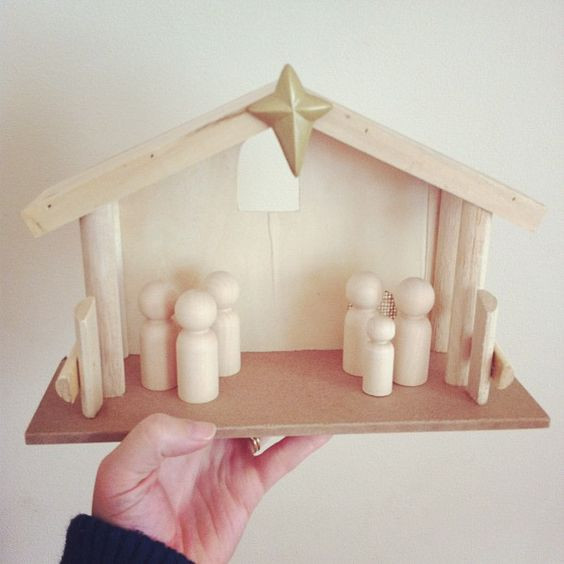 Best ideas about DIY Nativity Stable . Save or Pin DIY nativity scene stable from tar wooden people from Now.